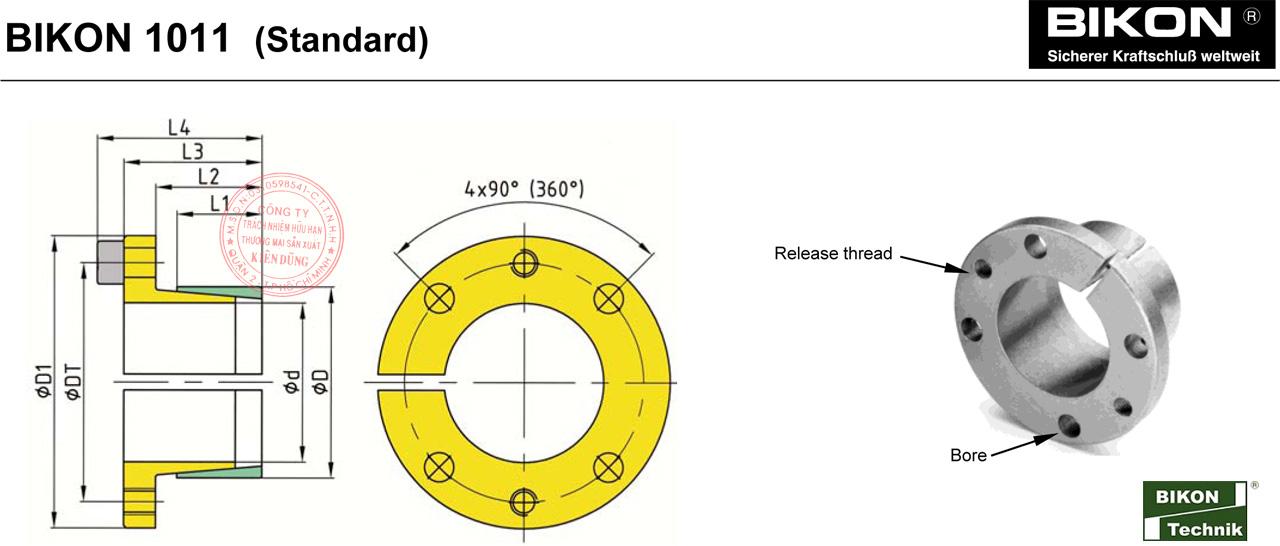 Thông số kỹ thuật Thiết bị khóa đầu trục Bikon 1011