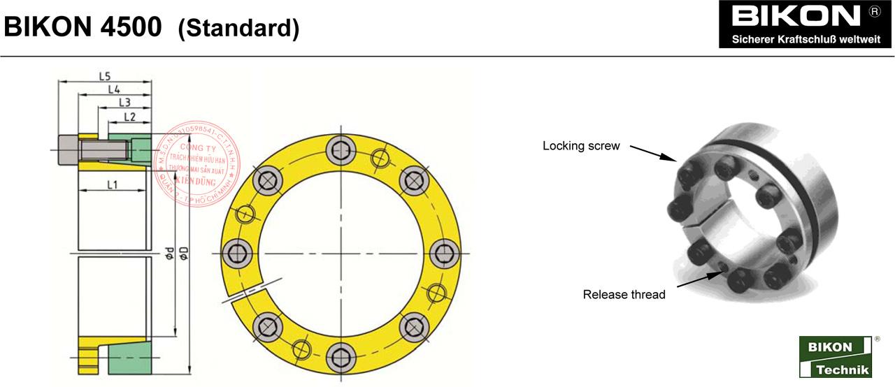 Thông số kỹ thuật Thiết bị khóa đầu trục Bikon 4500