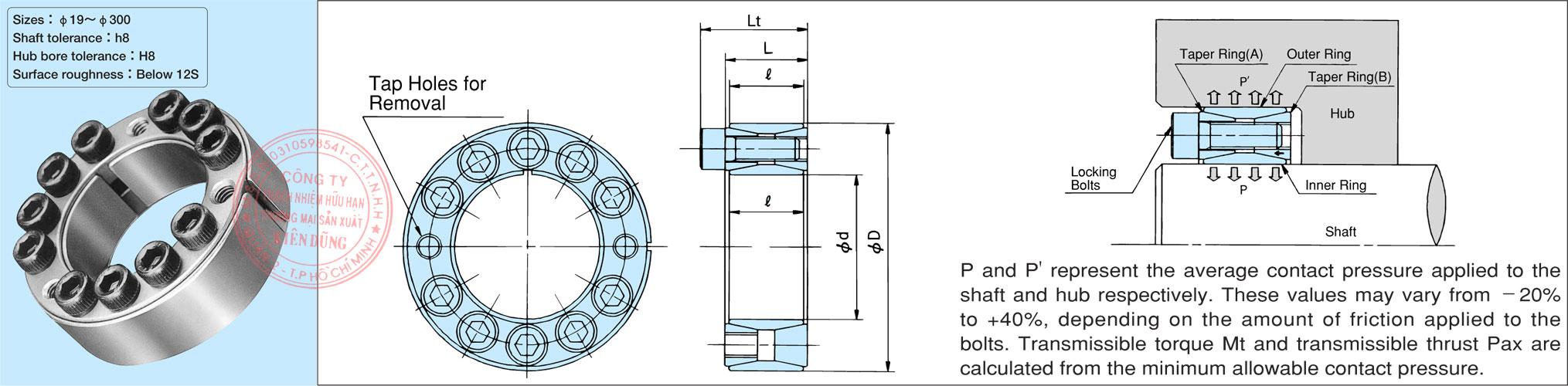 Thông số kỹ thuật Power Lock dòng tiêu chuẩn AS Series