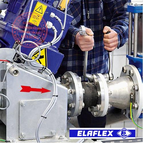 Khớp nối mềm cao su Elaflex Rubber Expansion Joint trong ứng dụng thực tế 1