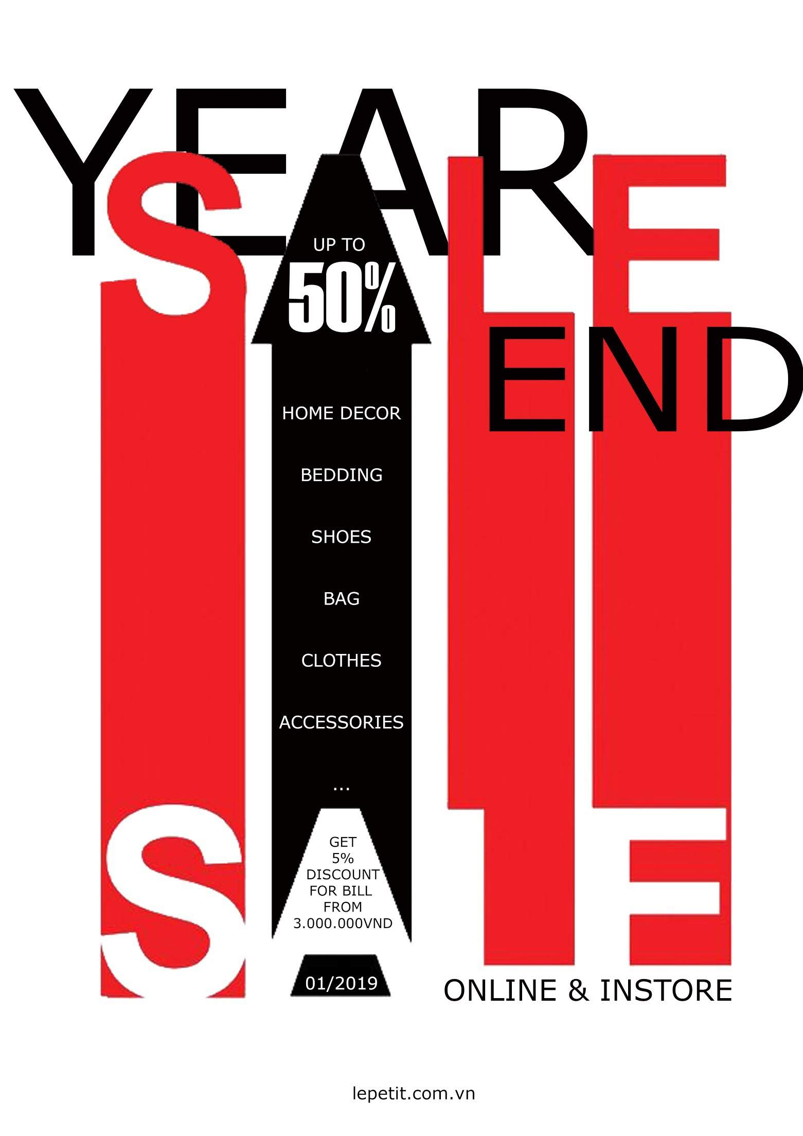 YEAR-END SALE 2018