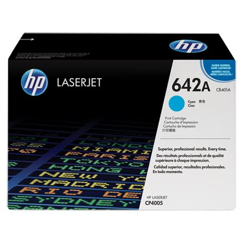 HP 642A Cyan Original LaserJet Toner Cartridge (CB401A)