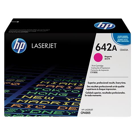 HP 642A Magenta Original LaserJet Toner Cartridge (CB403A)