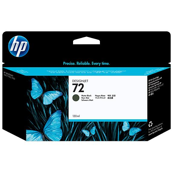 HP 72 130-ml Matte Black Ink Cartridge (C9403A)
