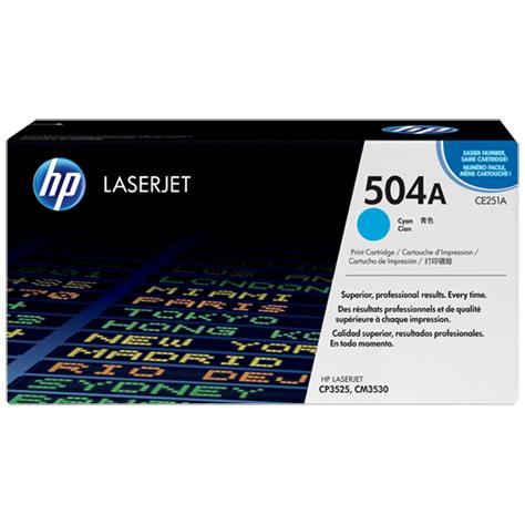 HP 504A Cyan Original LaserJet Toner Cartridge (CE251A)