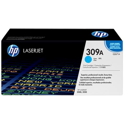 HP 309A Cyan Original LaserJet Toner Cartridge (Q2671A)