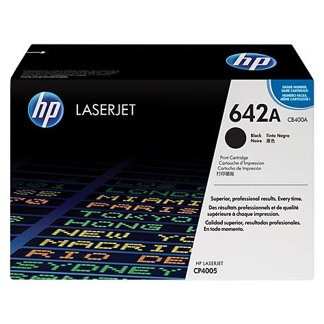 HP 642A Black Original LaserJet Toner Cartridge (CB400A)