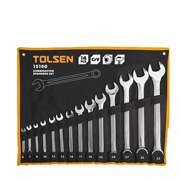 6-32mm Bộ cờ lê vòng miệng Tolsen 14 món 15160