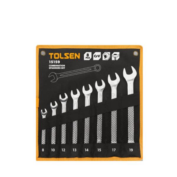 8-19mm Bộ cờ lê vòng miệng Tolsen 8 món 15159
