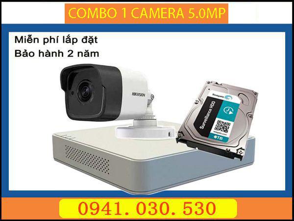 Camera trọn bộ: 1 camera thân 5.0MP