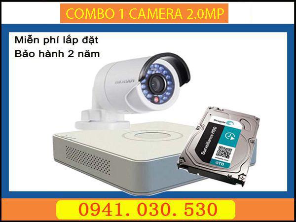 Trọn bộ camera quan sát: 1 camera thân 2.0MPX