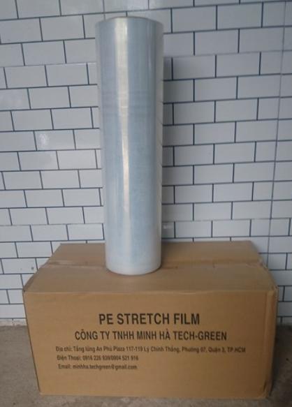 Màng PE 0.017mm X 500mm X 4kg (Lõi 800 x Film 3.2 Kg)