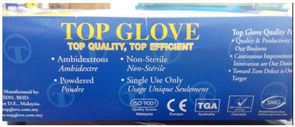 Găng tay cao su Top Glove Nitril
