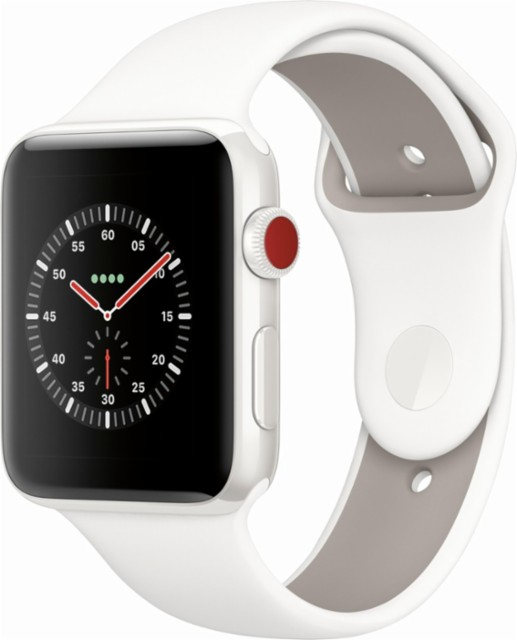 Apple Watch Edition White Ceramic 42mm with Soft White/Pebble Sport Band