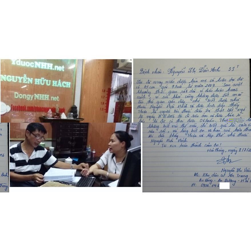 Có em bé sau khi uống thuốc tại Y Dược Nguyễn Hữu Hách