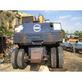 Cho thuê máy xúc đào bánh lốp PW100-3 gầu 0,45 khối