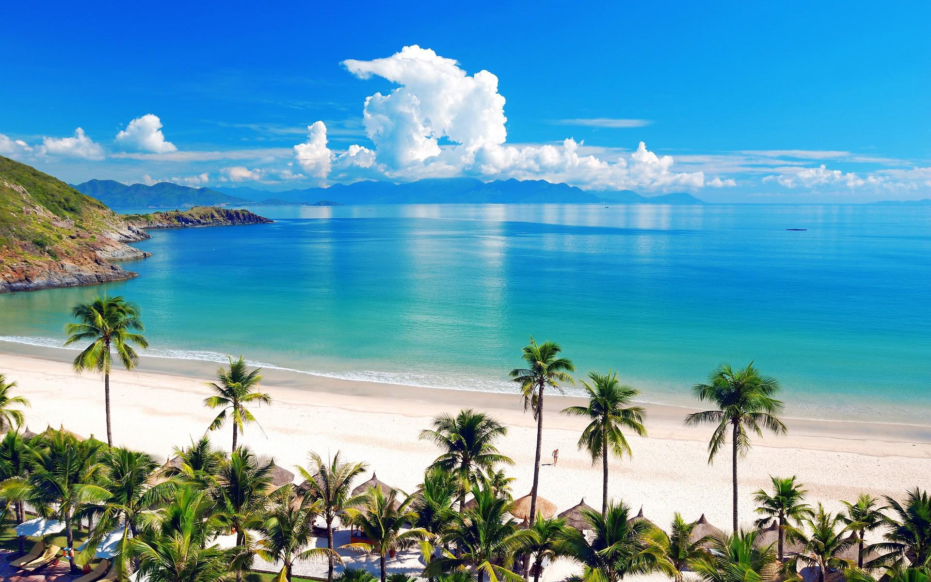 Thiên đường biển Nha Trang sở hữu bãi cát dài trắng mịn, dòng nước biển trong xanh, sinh vật biển vô cùng đa dạng