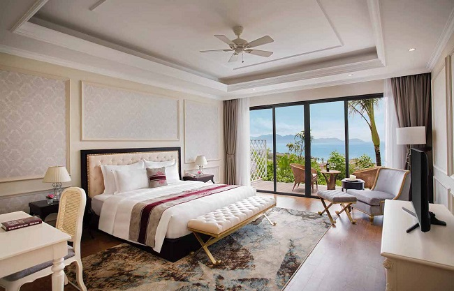 Vinpearl Discovery 1 Nha Trang có các hạng phòng ngủ với tầm nhìn đa dạng