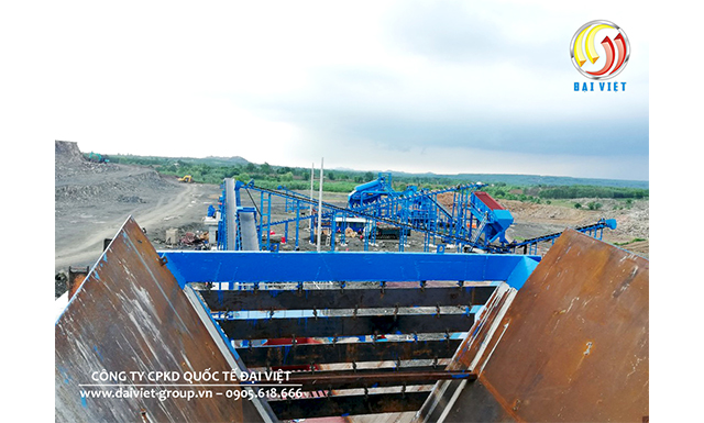 Dây chuyền nghiền đá 350 tấn/ giờ