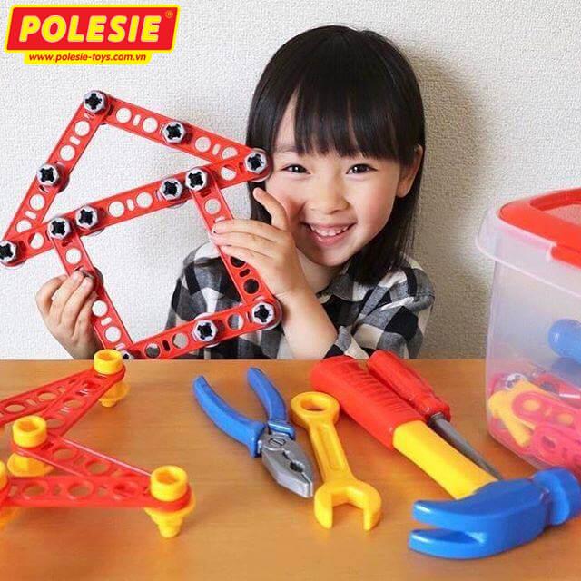 bé yêu chơi bộ đồ dụng cụ kỹ thuật 53718 polesie việt nam