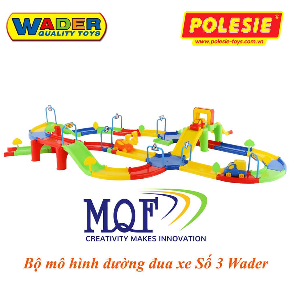 Bộ đồ chơi mô phỏng đường đua xe Số 3 Polesie Wader 37596