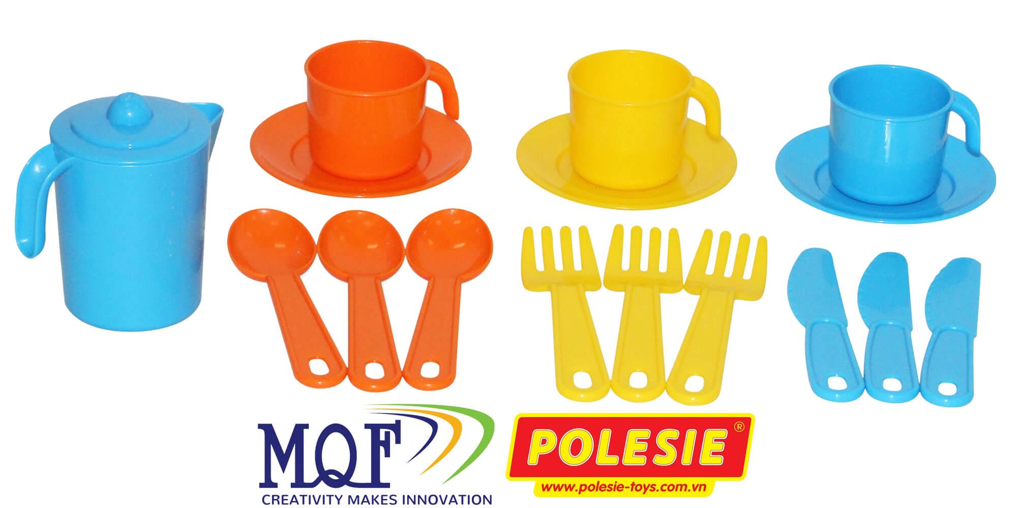 bộ đồ chơi pha trà cho 3 người Anyuta Polesie MQF CO