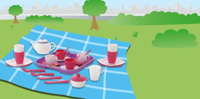 đồ chơi cho bé gái pha trà dành cho 4 người