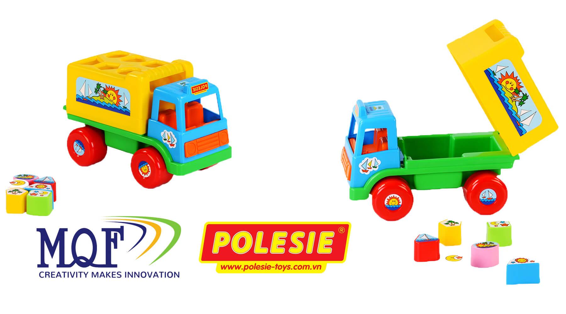 đồ chơi giáo dục xe thả hình island cavallino polesie toys