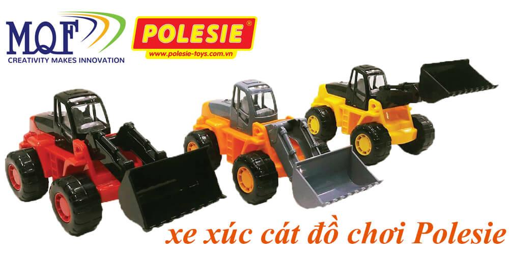 set combo xe xúc cát bộ 18 xe đồ chơi 57976 polesie toys