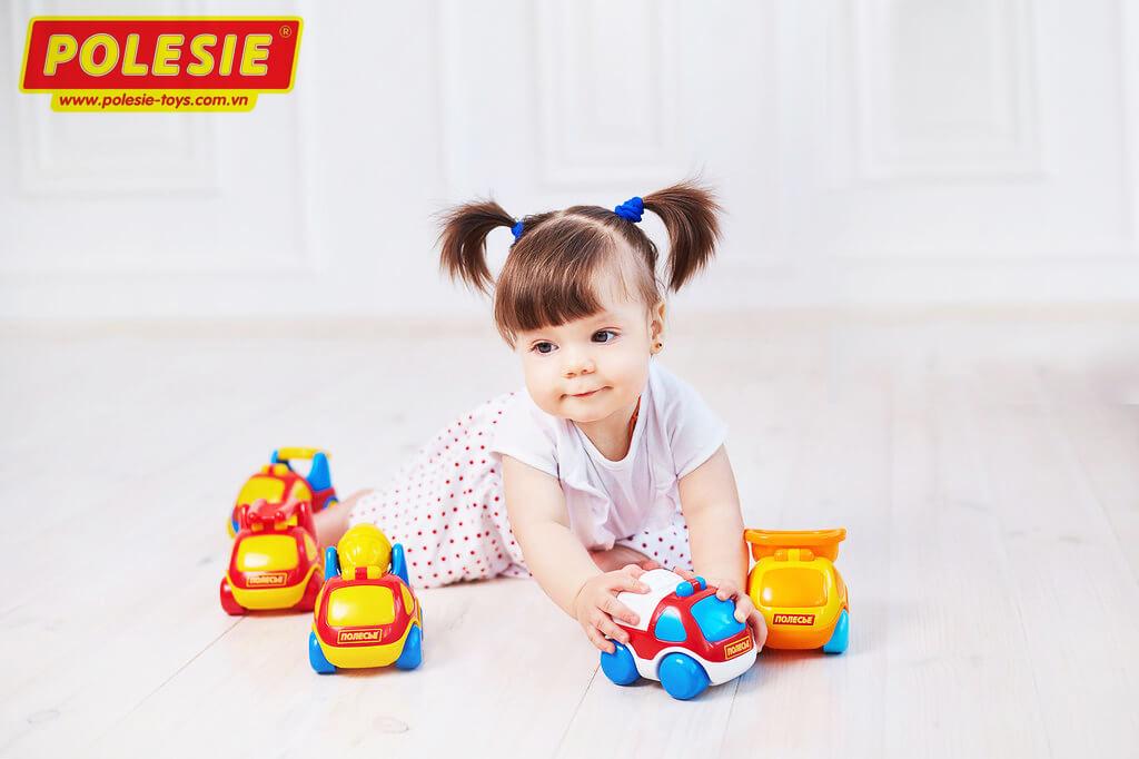 set combo đồ chơi xe ô tô đồ chơi 61881 Polesie