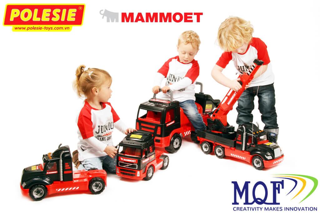Xe chòi chân đồ chơi MAMMOET cỡ lớn Polesie Toys việt nam