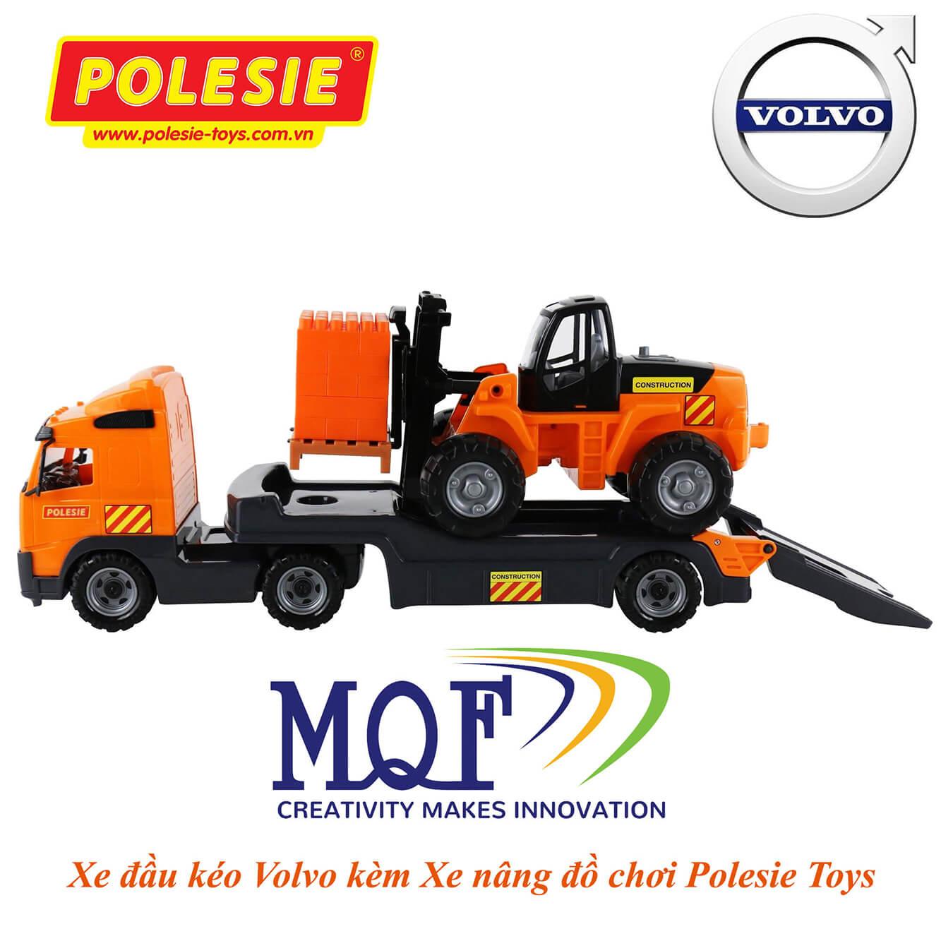 Mẫu xe mô hình đồ chơi xe đầu kéo và xe nâng hàng Polesie Toys