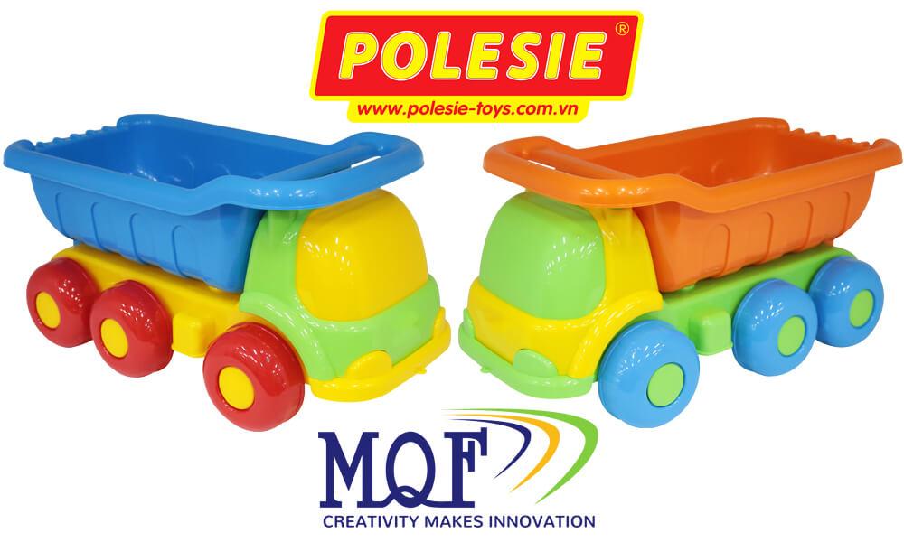 đồ chơi trẻ em polesie toy xe tải và 60 chi tiết lắp ghép