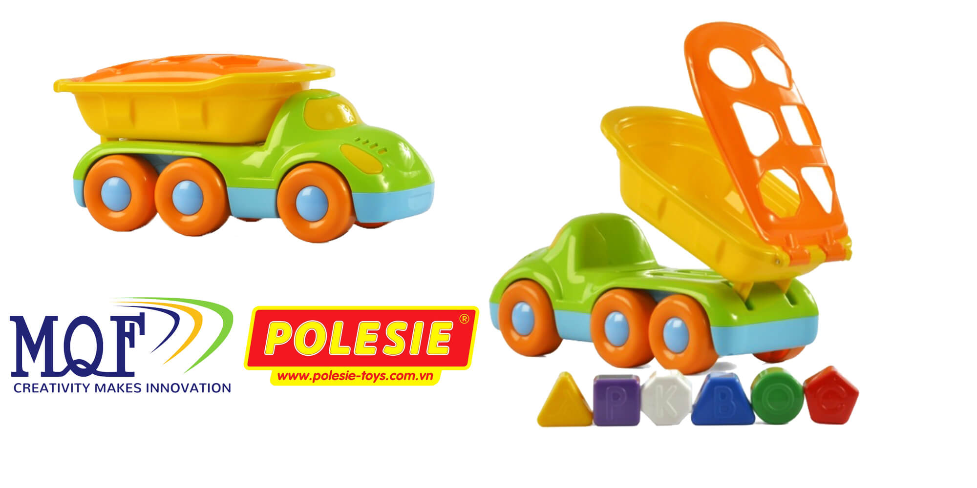 xe tải đồ chơi cho bé Buddy cùng bộ hình học tập Polesie