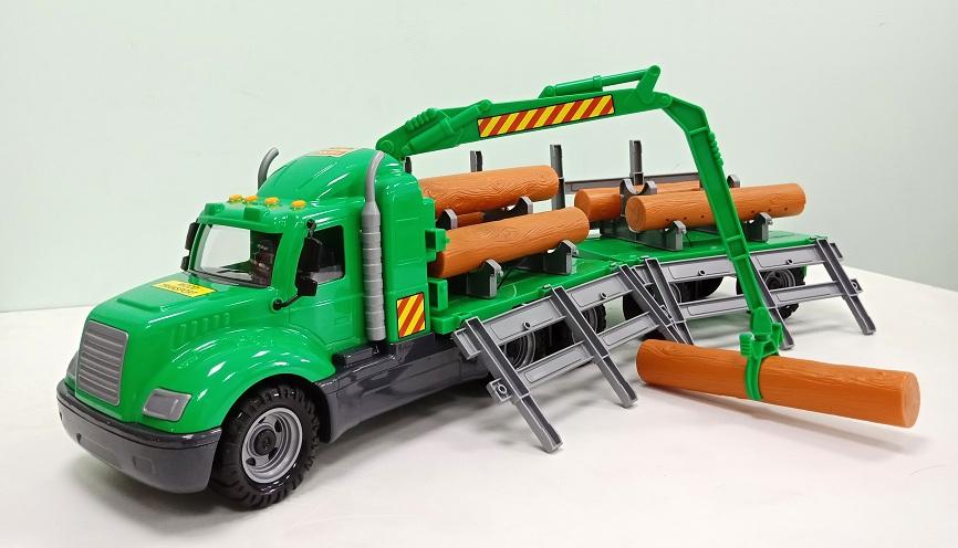 xe đầu kéo đồ chơi chở gỗ Mike cho trẻ em