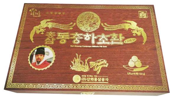 Kết quả hình ảnh cho Đông Trùng Hạ Thảo Hộp Gỗ 30 Viên – Kanghwa Health