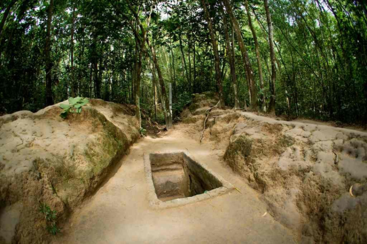 GROUP CU CHI UNDERGROUND TUNNELS HALF DAY TOUR