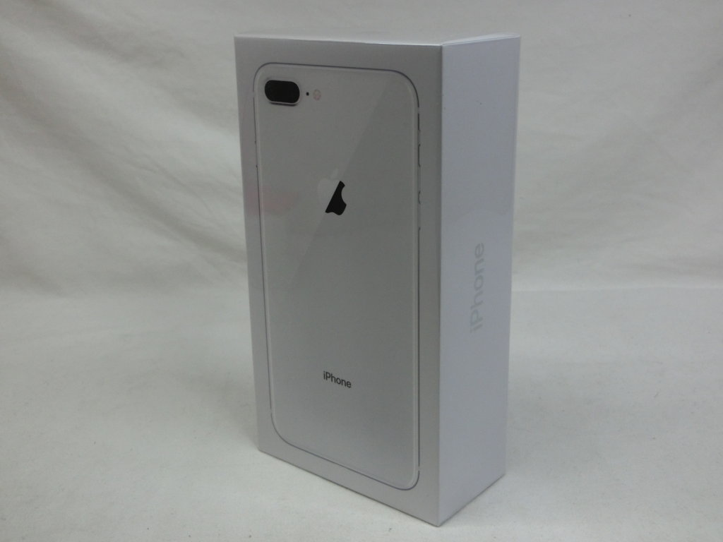 IPHONE 8PLUS 64GB SILVER AU NEW 100% 未開封ID:1107563