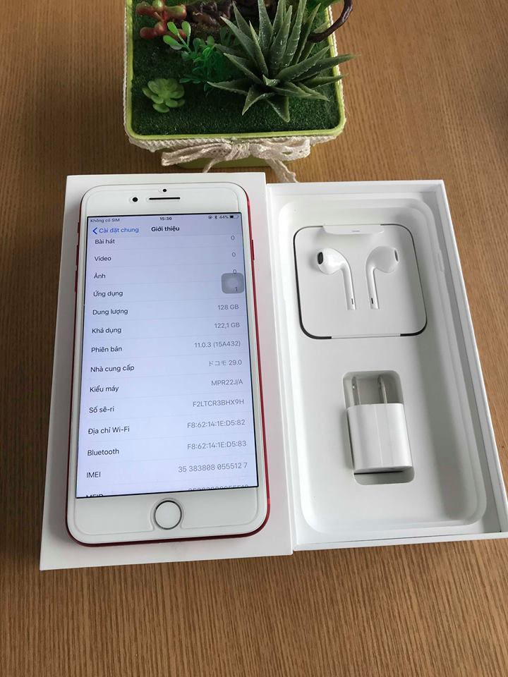 Iphone 7plus-128gb dcm 99% đỏ ID: 0555127