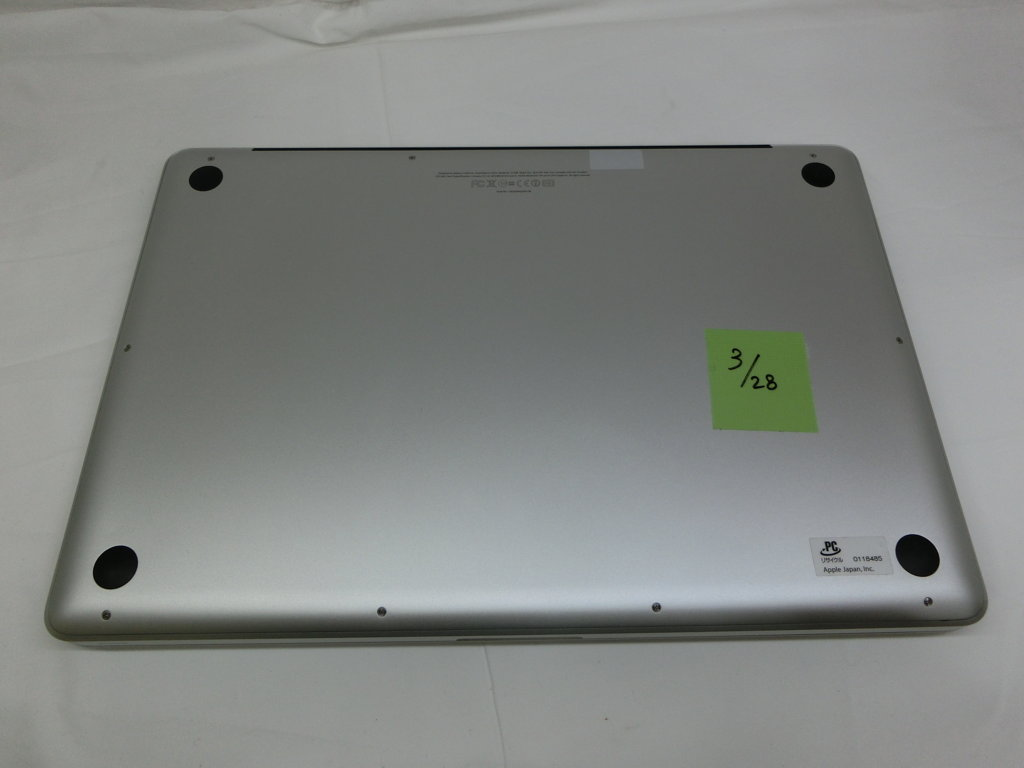 MACBOOK PRO 15 INH MODEL 2011 CORE I7 / 2.40GHZ / 8G / HHD 1000GB ID:T03281055 (4GSD)