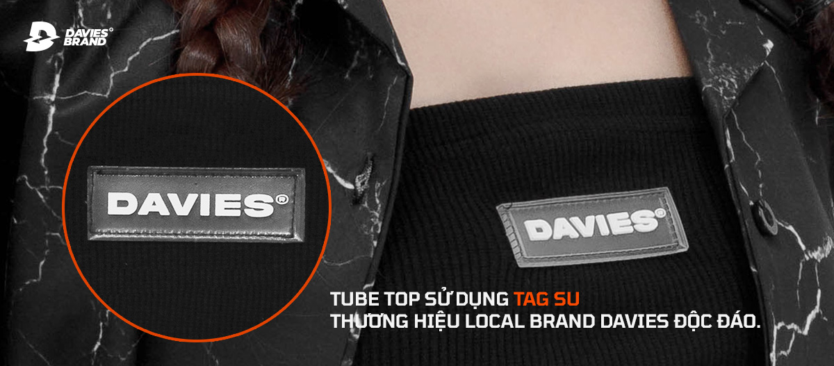 áo ống local brand davies tube top