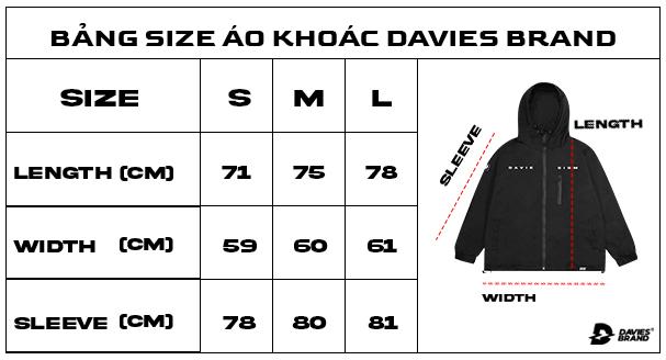 bảng size áo khoác local brand