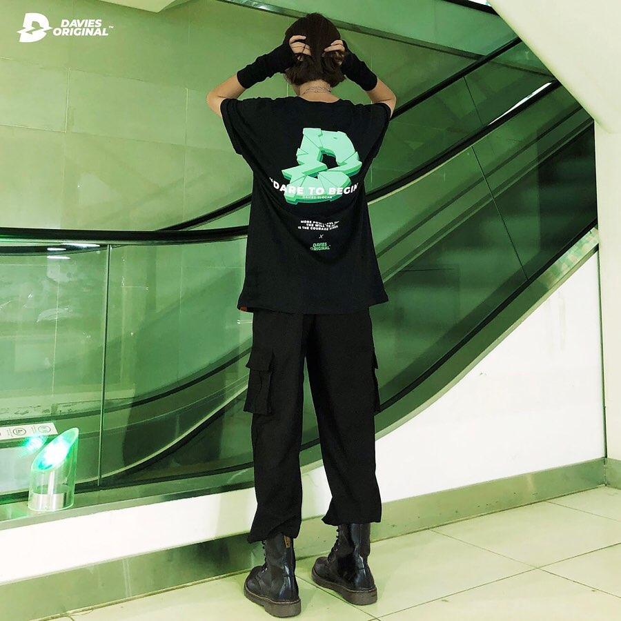 DSW Tee Break-Black Green