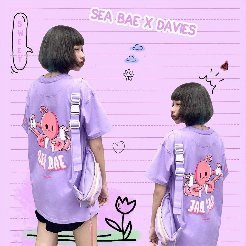 DSS Tee Sea Bae-Violet