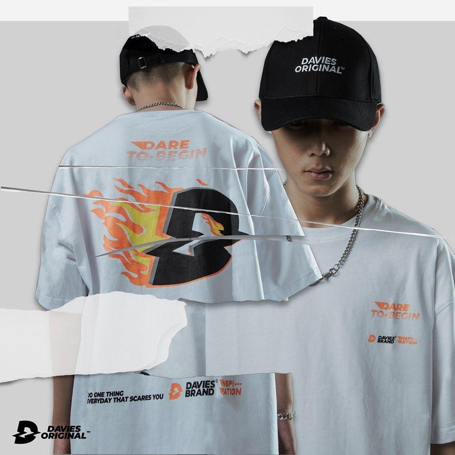 DSW Tee Logo Fire-White