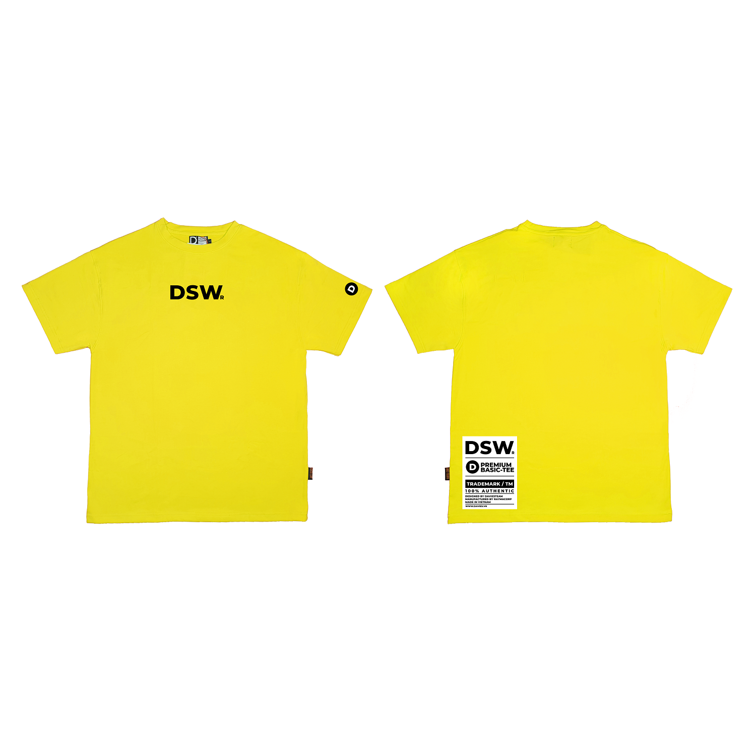 DSW Basic Tee Premium-YELLOW