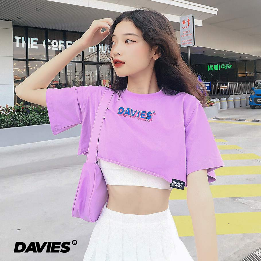 DSS Croptop Led Text-Violet