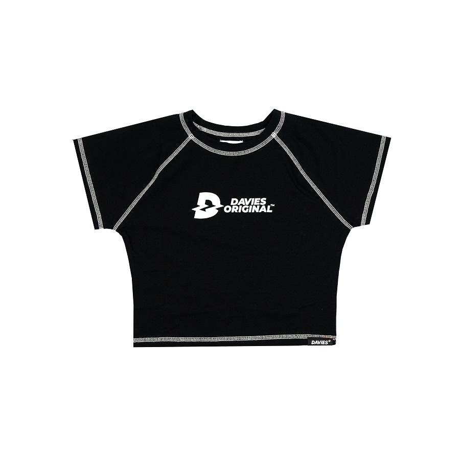 DSS Croptop Davies Seam-BLACK