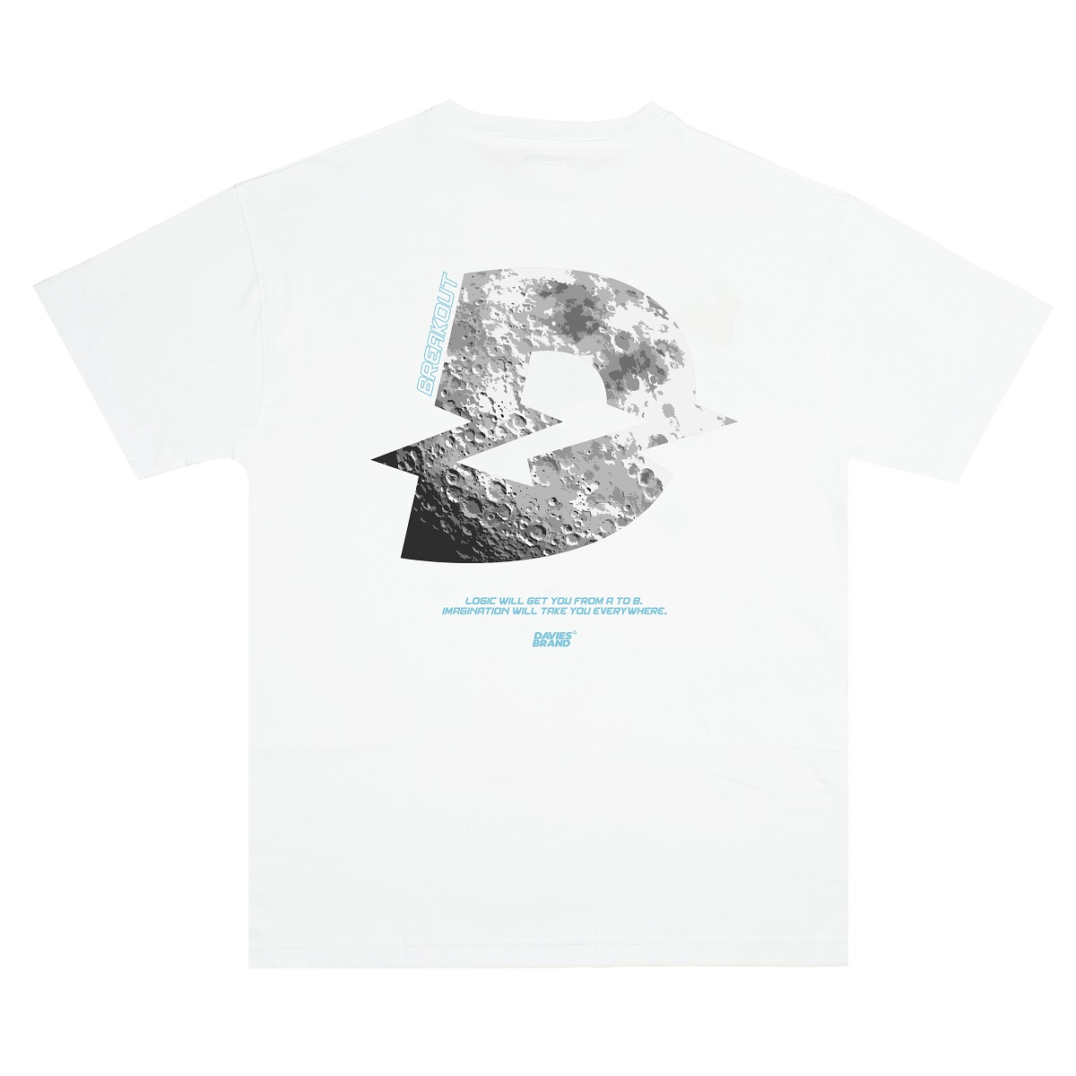 DSS Tee Moon Logo-White