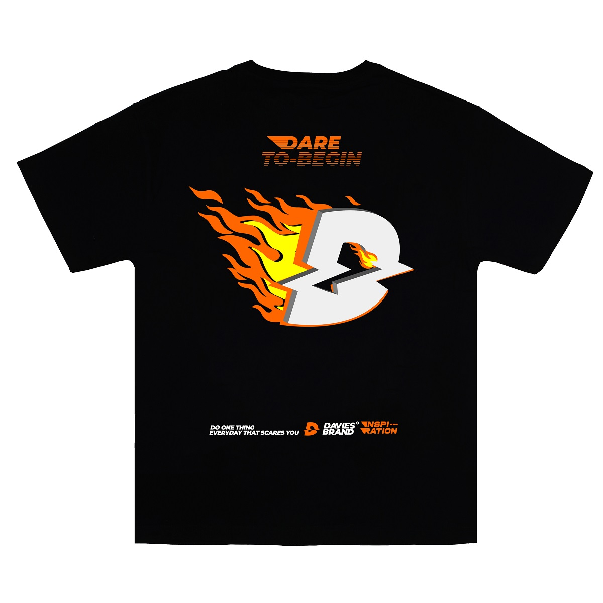 DSW Tee Logo Fire-Black